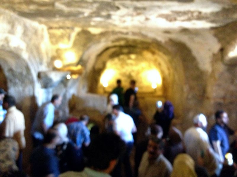 People can visit inside the cave tombs