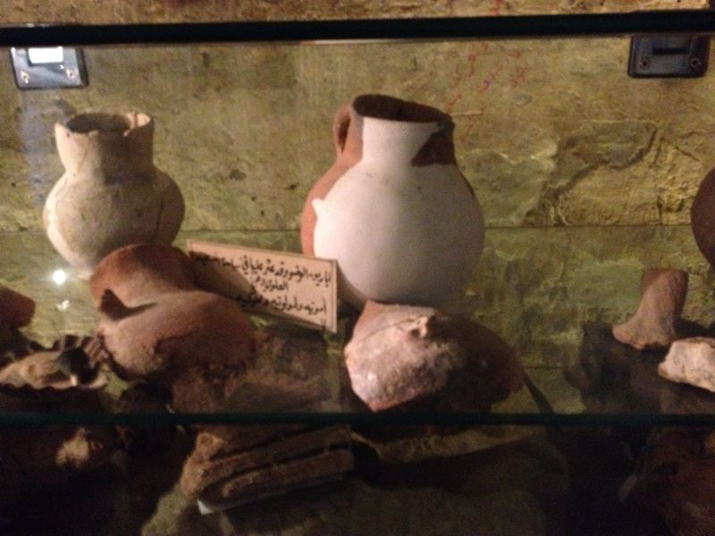 Pots found in the tombs