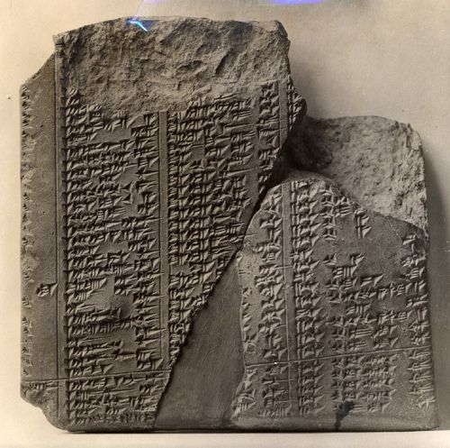 Fragment of an Assyrian eponym list from the reign of Ashurbanipal