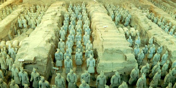 Terracotta warriors from the Quin dynasty