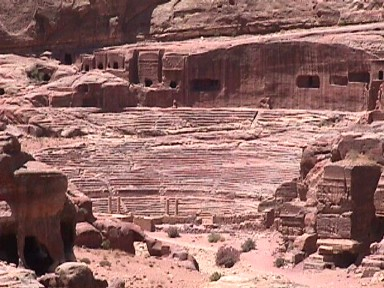 While some people have assumed that this was built by the Romans, the theater is actually Nabataean and was constructed long before the Romans entered Petra.