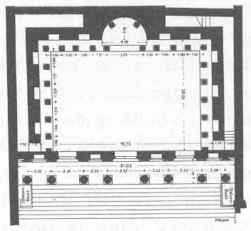 Ground plan of Ephesus Library