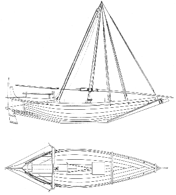 Above: A baggarah with a rope steering gear in the 1830's from Paris' Essai sur la construction. The hull of this small boat is very similar to a battil, but the stern-piece is continued in a straight line instead of the club like shape of the battil, but lacks protection despite it's high stern post. This vessel is also known today as a shahuf, and is often used as a fishing vessel along the coasts of the Persian Gulf, Oman and Yemen.