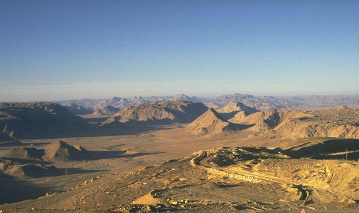 View from the Naqab Escarpment near the Naqab fort