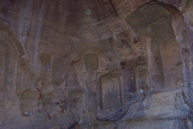 There are some amazing carvings along this siq, especially when it water course takes sharp right turns.