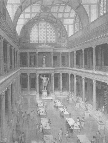 Inside the Library, the central room was used for study, while the books were kept in niches in the walls.